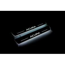 Накладки на пороги з підсвіткою Acura MDX III 2013+ (front doors) - (тип Static)