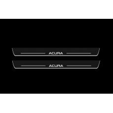 Накладки на пороги з підсвіткою Acura RLX 2013+ - (тип Static)