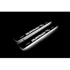 Накладки на пороги з підсвіткою Dodge Durango III 2011+ with logo R/T (front doors) - (тип Static)