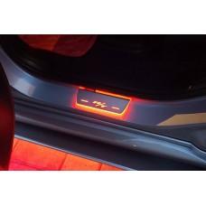 Накладки на пороги з підсвіткою Dodge Durango III 2011+ with logo R/T (rear doors) - (тип Static)