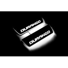 Накладки на пороги з підсвіткою Dodge Durango III 2011+ (rear doors) - (тип Static)