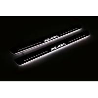 Накладки на пороги з підсвіткою Ford Kuga II 2013-2020 (front doors) - (тип Static)