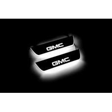 Накладки на пороги з підсвіткою GMC Terrain II 2018+ (rear doors) з лого GMC - (тип Static)