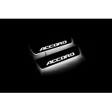 Накладки на пороги з підсвіткою Honda Accord X 2018+ (rear doors) - (тип Static)