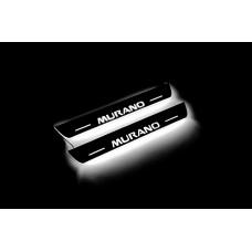 Накладки на пороги з підсвіткою Nissan Murano III 2014+ (rear doors) - (тип Static)