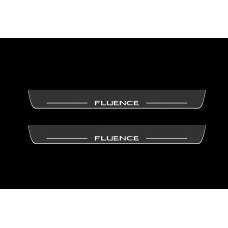 Накладки на пороги з підсвіткою Renault Fluence 2009-2017 - (тип Static)