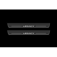 Накладки на пороги з підсвіткою Subaru Legacy V 2009-2014 - (тип Static)
