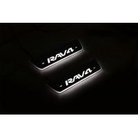 Накладки на пороги з підсвіткою Toyota Rav4 V 2019+ (rear doors) - (тип Static)