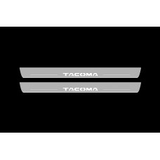 Накладки на пороги з підсвіткою Toyota Tacoma II 2005-2016 (front doors) - (тип Static)