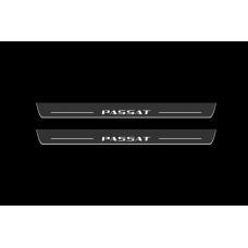 Накладки на пороги з підсвіткою Volkswagen Passat B7 USA 2011-2019 - (тип Static)